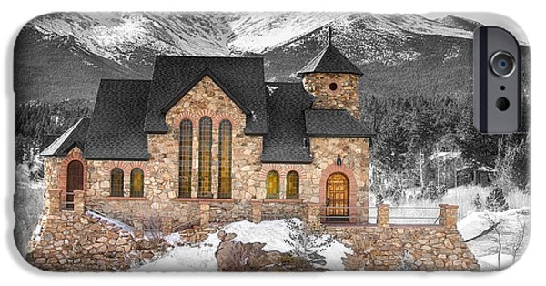 Chapel On The Rock iPhone Cases - Chapel on the Rock BWSC iPhone Case by James BO  Insogna