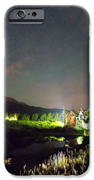 Chapel On The Rock iPhone Cases - Chapel On the Rock Stary Night Portrait iPhone Case by James BO  Insogna