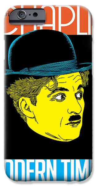 Vector Posters iPhone Cases - Chaplin iPhone Case by Gary Grayson