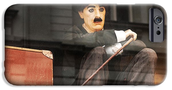 Chaplin iPhone Cases - Chaplin in Prague iPhone Case by John Rizzuto