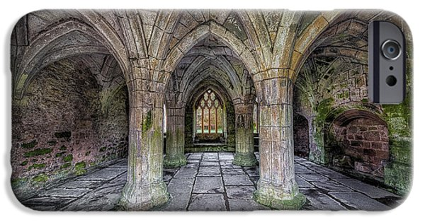 13th Century iPhone Cases - Chapter House Interior iPhone Case by Adrian Evans
