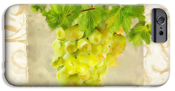 Red Wine iPhone Cases - Chardonnay II iPhone Case by Lourry Legarde