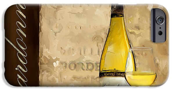 Vineyard Art iPhone Cases - Chardonnay III iPhone Case by Lourry Legarde