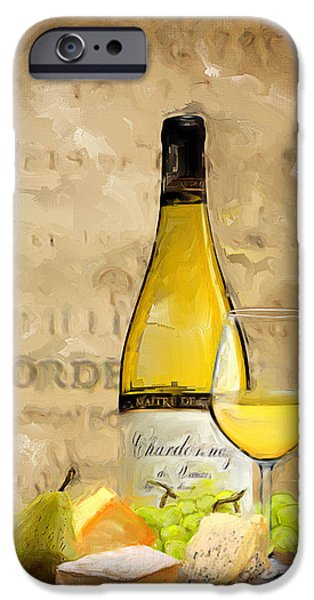 Vineyard Art iPhone Cases - Chardonnay IV iPhone Case by Lourry Legarde