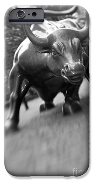 Selective Focus iPhone Cases - Charging Bull 2 iPhone Case by Tony Cordoza
