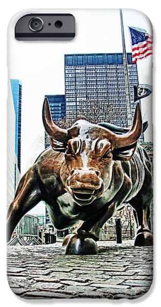 Finance iPhone Cases - Charging Bull 3 iPhone Case by Nishanth Gopinathan