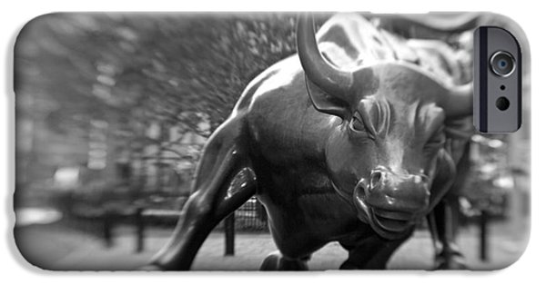Finance iPhone Cases - Charging Bull 3 iPhone Case by Tony Cordoza
