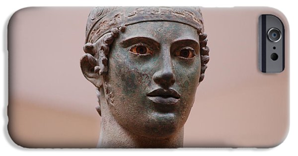 Bust Sculptures iPhone Cases - Charioteer  iPhone Case by Beth Wolff