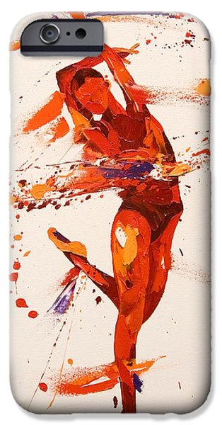 Ballet Dancers Paintings iPhone Cases - Charisma  iPhone Case by Penny Warden