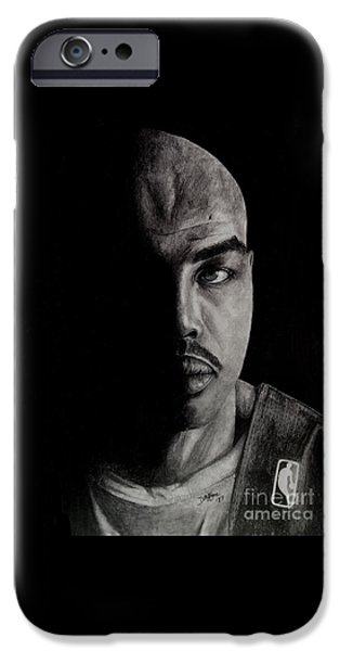 Charles Barkley iPhone Cases - Charles Barkley  iPhone Case by Devin Millington