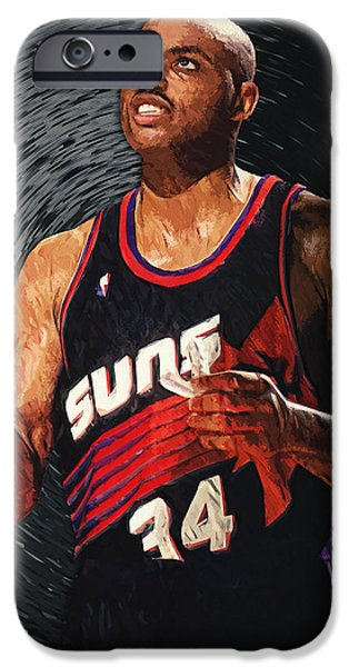 Mounds Digital iPhone Cases - Charles Barkley iPhone Case by Taylan Soyturk