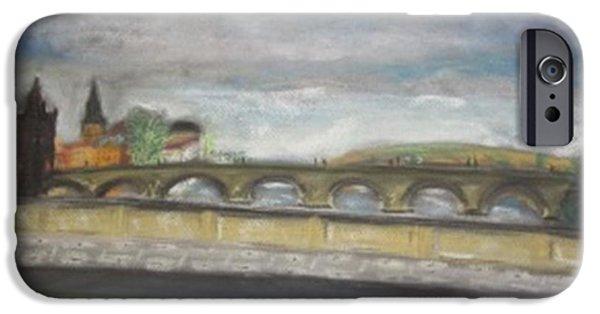 Buy Pastels iPhone Cases - Charles Bridge in Prague iPhone Case by Igor Kotnik