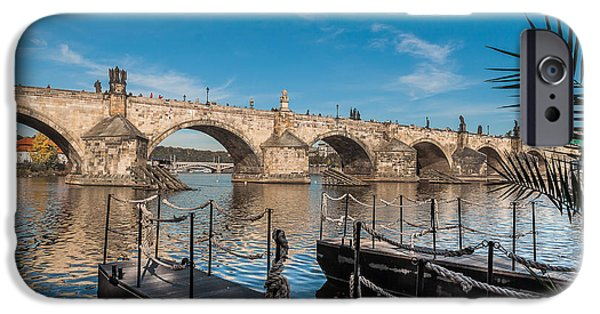 Charles River iPhone Cases - Charles Bridge iPhone Case by Sergey Simanovsky