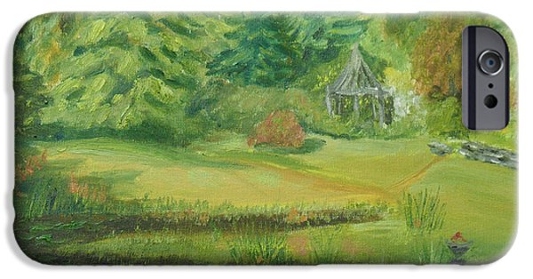 Charles River iPhone Cases - Charles Chapman House Gardens iPhone Case by Robert P Hedden
