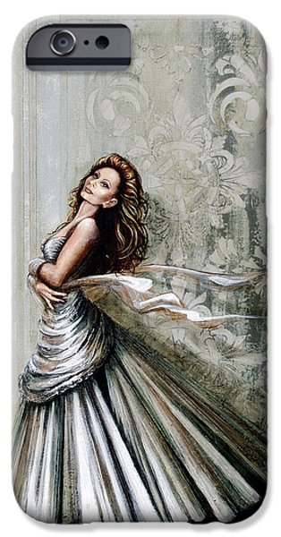Ball Gown iPhone Cases - Charles James Swan Gown iPhone Case by Joan Garcia