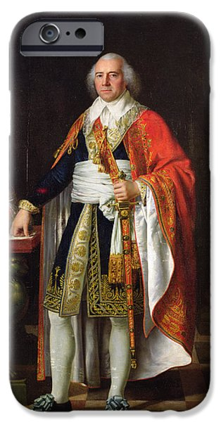 Politician iPhone Cases - Charles Louis Francois Letourneur 1751-1817 1796 Oil On Canvas iPhone Case by Jean Baptiste Francois Desoria