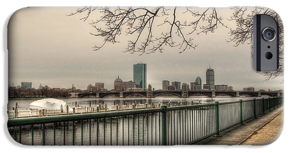 Best Sellers -  - Charles River iPhone Cases - Charles River Charlesgate Yacht Club iPhone Case by Joann Vitali