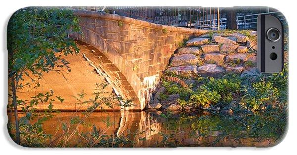 Charles Bridge Digital iPhone Cases - Charles River Footbridge iPhone Case by Toby McGuire