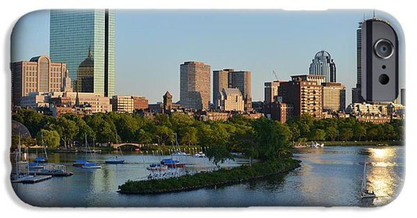 Charles River Digital Art iPhone Cases - Charles River Reflection iPhone Case by Toby McGuire