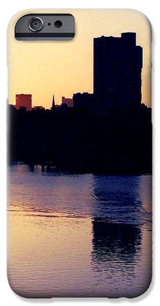 Charles River Rower at Dawn iPhone Case by Kenny Glotfelty