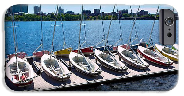 Charles River iPhone Cases - Charles River Sailing iPhone Case by Allan Morrison