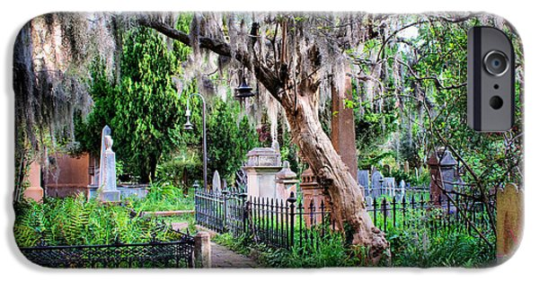Recently Sold -  - Headstones iPhone Cases - Charleston Church Yard iPhone Case by Lynne Jenkins