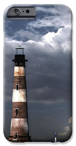 Lighthouse iPhone Cases - Charleston Lights iPhone Case by Skip Willits