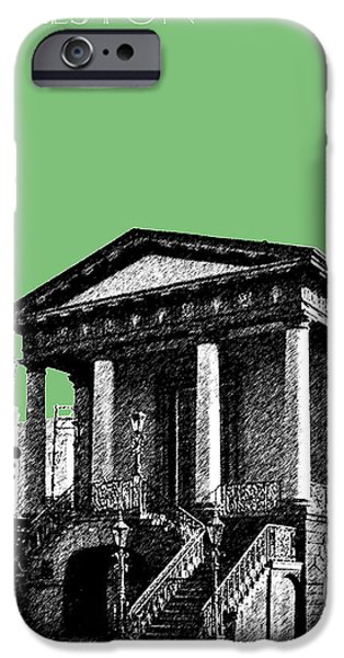Pen And Ink iPhone Cases - Charleston Market Building - Apple iPhone Case by DB Artist