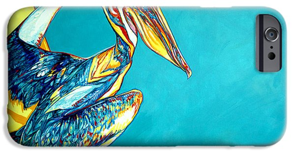 Cambridge Paintings iPhone Cases - Charleston Pelican iPhone Case by Derrick Higgins
