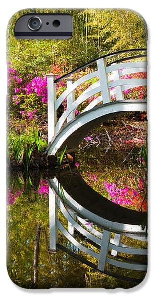 Charleston SC Magnolia Plantation Spring Blooming Azalea Flowers Garden iPhone Case by Dave Allen