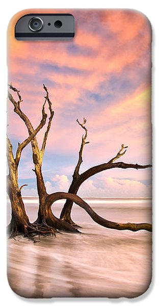 Charleston SC Sunset Folly Beach Trees - The Calm iPhone Case by Dave Allen