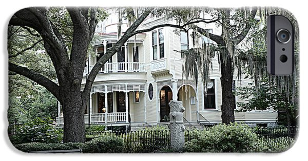 Balcony iPhone Cases - Charleston South Carolina Historical Victorian Mansion - Charleston South Carolina Southern Mansions iPhone Case by Kathy Fornal