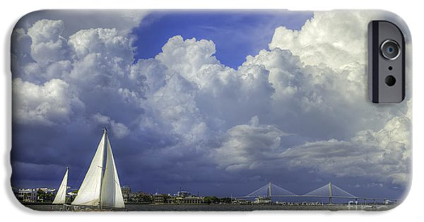 Sailing iPhone Cases - Charleston South Carolina Thunderstorms  8/2013 iPhone Case by Dustin K Ryan