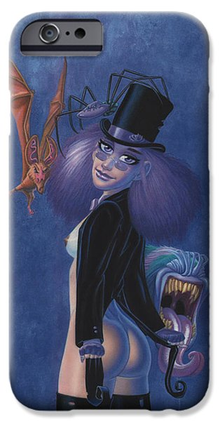 The Tramp iPhone Cases - Charli and Friends iPhone Case by Richard Moore