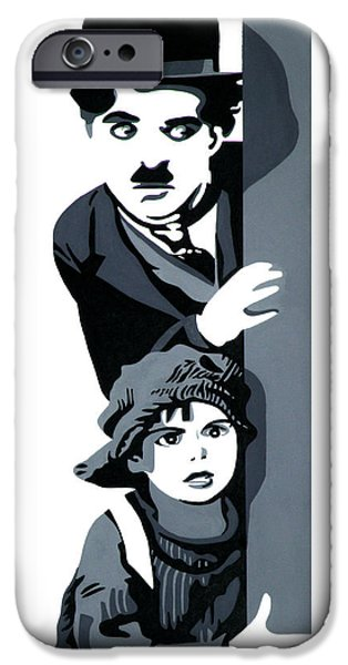 The Little Tramp iPhone Cases - Charlie and the Kid iPhone Case by Ian  King