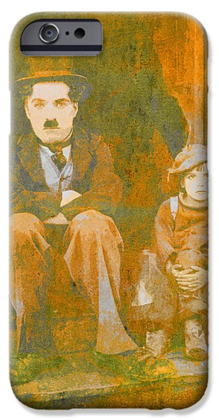 The Little Tramp iPhone Cases - Charlie Chalpin The Kid iPhone Case by Humphrey King
