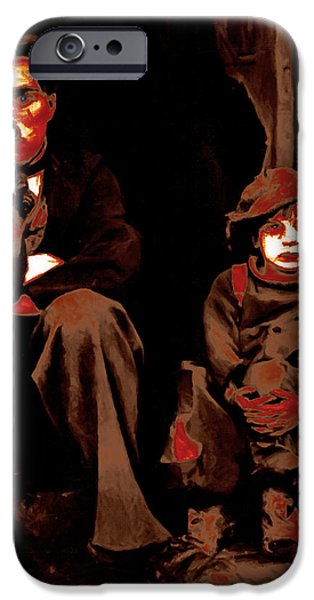 Charlie Chaplin 20130212-2-square iPhone Case by Wingsdomain Art and Photography