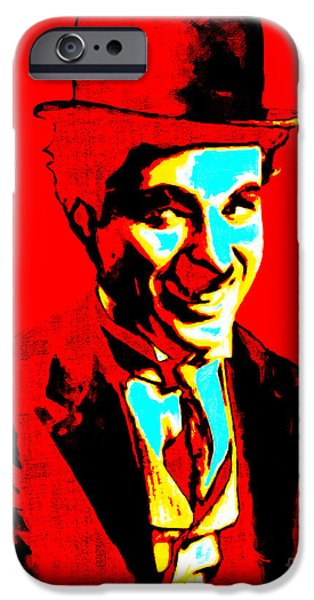 Charlie Chaplin iPhone Cases - Charlie Chaplin 20130212 iPhone Case by Wingsdomain Art and Photography