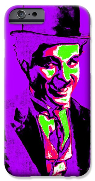 The Tramp iPhone Cases - Charlie Chaplin 20130212m78 iPhone Case by Wingsdomain Art and Photography