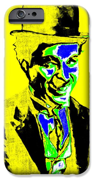 Charlie Chaplin iPhone Cases - Charlie Chaplin 20130212p60 iPhone Case by Wingsdomain Art and Photography