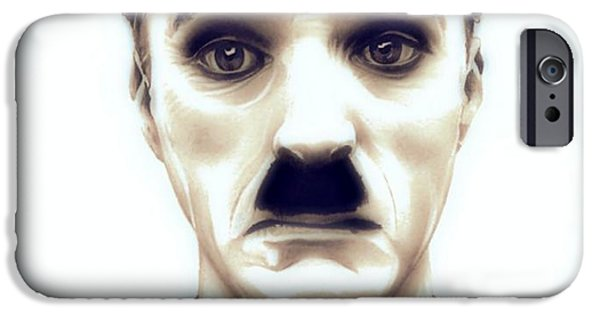 Chaplin iPhone Cases - Charlie Chaplin Adventurer iPhone Case by Fred Larucci