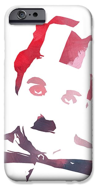 Charlie Chaplin iPhone Cases - Charlie Chaplin Color iPhone Case by Stefan Kuhn