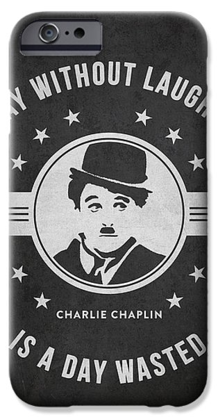 Charlie Chaplin iPhone Cases - Charlie Chaplin - Dark iPhone Case by Aged Pixel