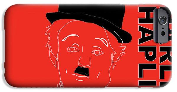 Charlie Chaplin iPhone Cases - Charlie Chaplin iPhone Case by Marvin Blaine