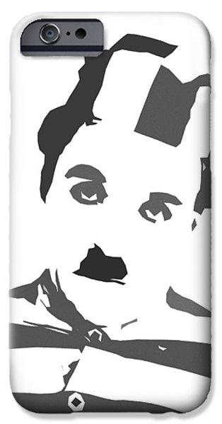 Charlie Chaplin iPhone Cases - Charlie Chaplin iPhone Case by Stefan Kuhn