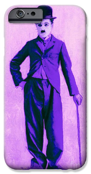 The Tramp iPhone Cases - Charlie Chaplin The Tramp 20130216m40 iPhone Case by Wingsdomain Art and Photography