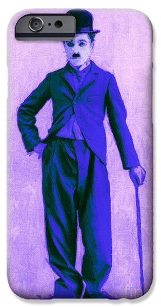 Charlie Chaplin iPhone Cases - Charlie Chaplin The Tramp 20130216m60 iPhone Case by Wingsdomain Art and Photography