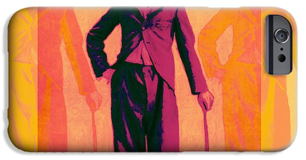 The Tramp iPhone Cases - Charlie Chaplin The Tramp Three 20130216 iPhone Case by Wingsdomain Art and Photography