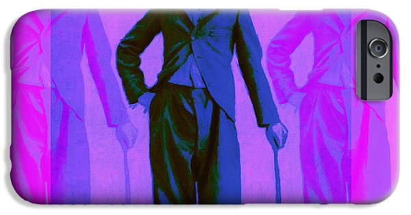 Charlie Chaplin iPhone Cases - Charlie Chaplin The Tramp Three 20130216m108 iPhone Case by Wingsdomain Art and Photography
