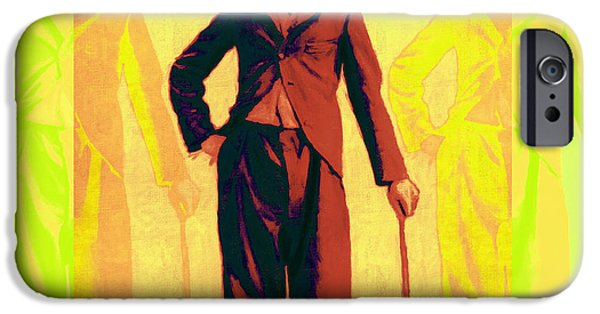 The Tramp iPhone Cases - Charlie Chaplin The Tramp Three 20130216p30 iPhone Case by Wingsdomain Art and Photography